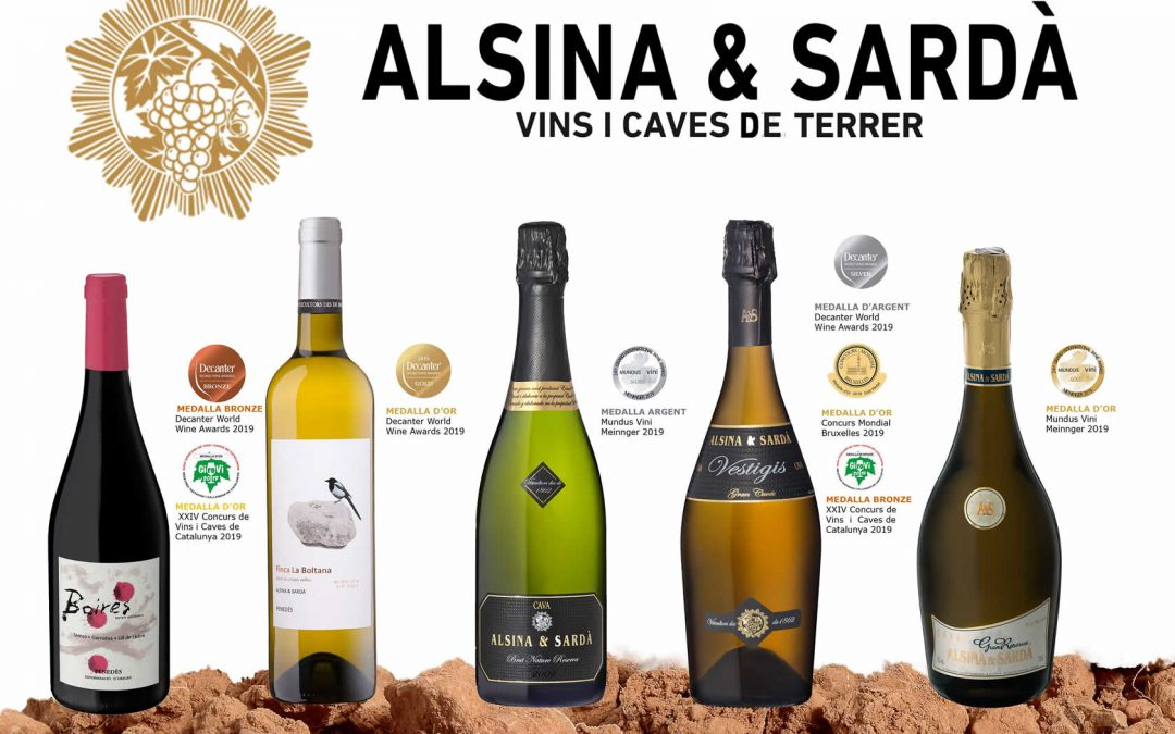 Our wines and cavas awarded in 2019